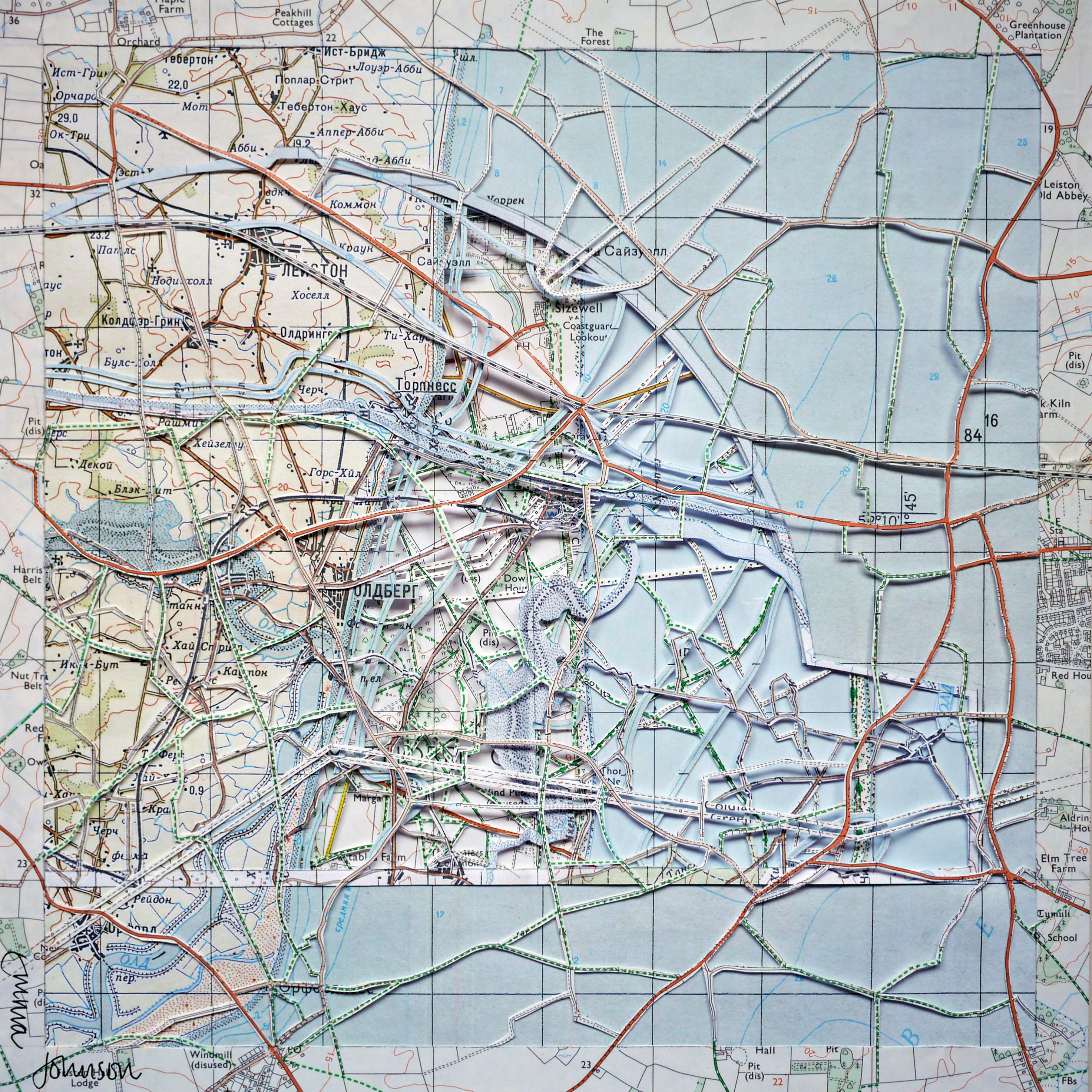 СИЗЕWЕЛЛ Sizewell Suffolk Coastal Dislocation